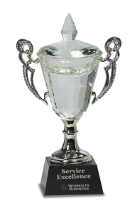 CRY052M PEDESTAL CRYSTAL CUP AWARD 10