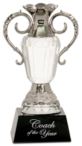 CRY062M CRYSTAL CUP SILVER TRIM AWARD 9