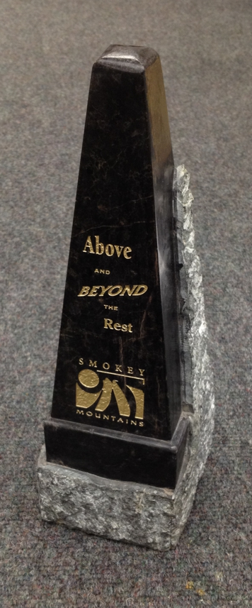 Laser engraved marble awards