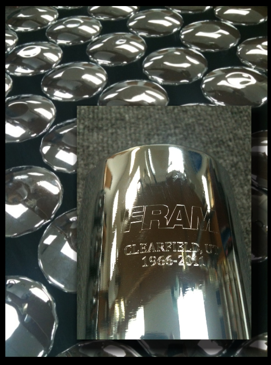 engraved fram oil filter