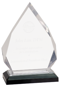 imp301s silver diamond acrylic award base
