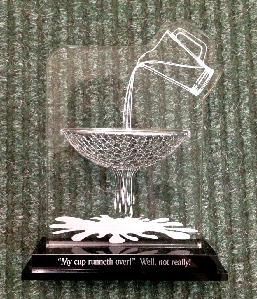 Custom Award with Strainer